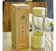 300ML Wheat Straw Portable High Borosilicate Glass Cup, Advertising Bottle | Cup