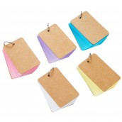 Blank Assorted Colors Study Cards