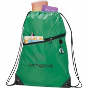 Drawstring Bag with Earphone Hole