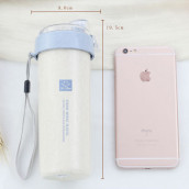 400ML Wheat Straw Portable Cup