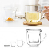 Glass Cup with Infuser