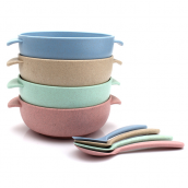 Straw Bowl with Spoon
