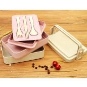 300ML Wheat Straw Lunchbox