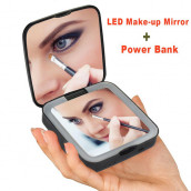 LED Dual Mirror Power Bank-Square