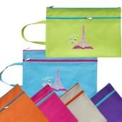 Portable Two-zipper File Bag