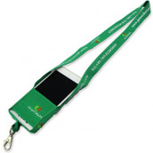Recycled Lanyard with Phone Pouch