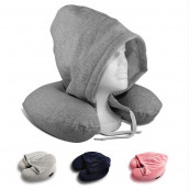 U Shape Travel Neck Pillow with Hoodie