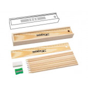 Wooden Corlour Pencils Set