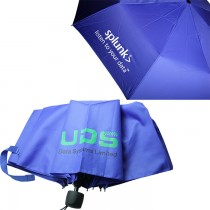 21'' UV Protection 3 Folding Umbrella - Solid