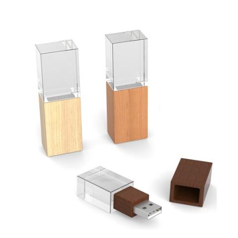 Bamboo Crystal USB Flash Drive, Small USB Flahs Drive