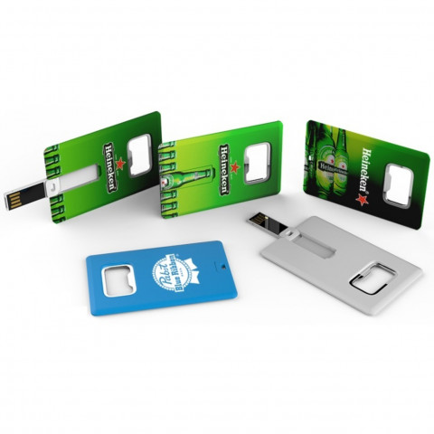 Card USB Flash Drive with Bottle Opener, Card USB Flash Drive